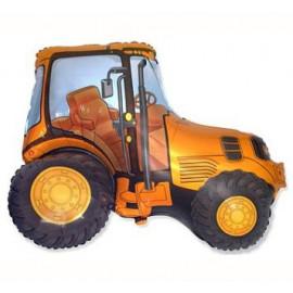 Balón foliový 60 cm  Traktor oranžový