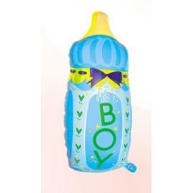Balón foliový dětská láhev Kluk 80 cm
