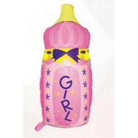 Balón foliový dětská láhev Holka 80 cm