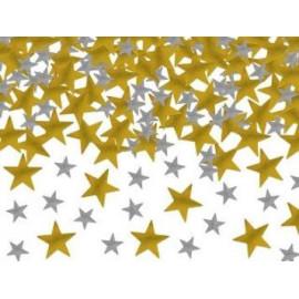 Konfety HVĚZDIČKY zlaté a stříbrné 7g