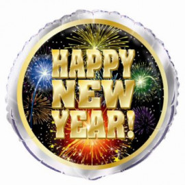 Balón fóliový 45cm  HAPPY NEW YEAR