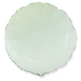 Balón foliový 45 cm Kulatý  bílý
