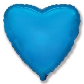Balón foliový 45 cm Srdce modré