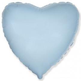 Balón foliový 45 cm Srdce světle modré