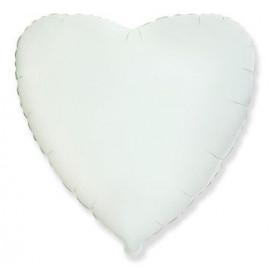 Balón foliový 45 cm Srdce bílé