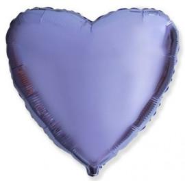 Balón foliový 45 cm Srdce LILA