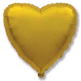 Balón foliový 45 cm Srdce zlaté