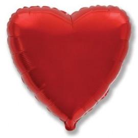 Balón foliový 45 cm  Srdce červené