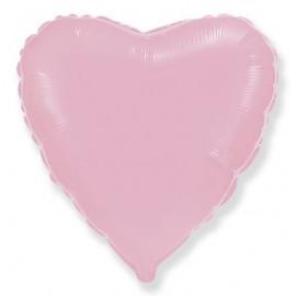 Balón foliový 45 cm  Srdce světle růžové