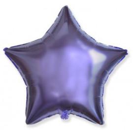 Balón foliový 45 cm  Hvězda LILA