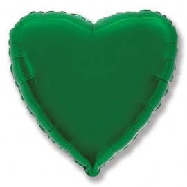 Balón foliový 45 cm  Srdce zelené