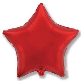 Balón foliový 45 cm  Hvězda červená
