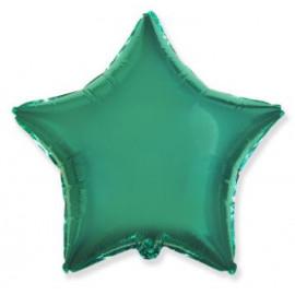 Balón foliový 45 cm  Hvězda zelená TYRKYSOVÁ