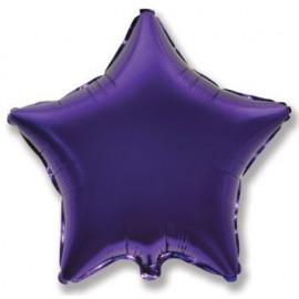 Balón foliový 45 cm  Hvězda fialová