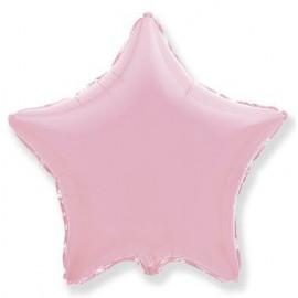Balón foliový 45 cm  Hvězda pastelová světle růžová