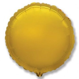 Balón foliový 45 cm Kulatý zlatý