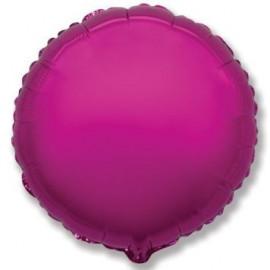 Balón foliový 45 cm Kulatý metalický tmavě růžový (Fuchsie)
