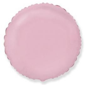 Balón foliový 45 cm Kulatý  pastelově růžový