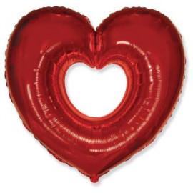 Balón foliový SRDCE červené 90 cm