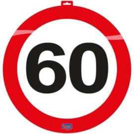 Dekorace dopravní značka 60, 47cm