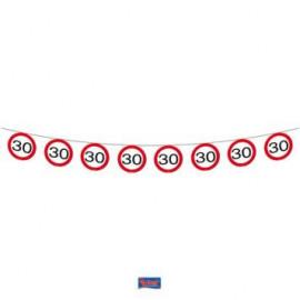 Girlanda dopravní značka 30, 12m