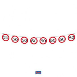 Girlanda dopravní značka 50, 12m