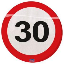 Ubrousky dopravní značka 30, 33x33cm 20ks/bal.