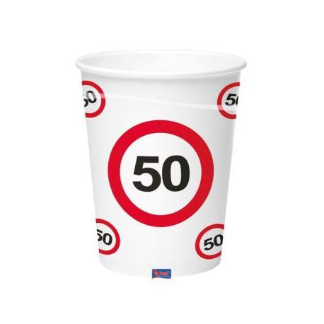 Kelímky dopravní značka 50, 350ml 8ks/bal.