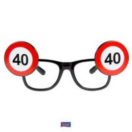 Brýle dopravní značka 40
