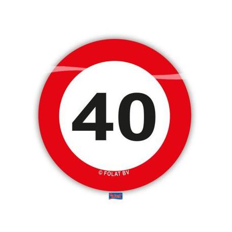 Konfety na stůl XL Dopravní značka 40 /48