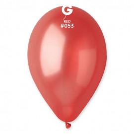 Balónky 1ks červené 26cm metalické