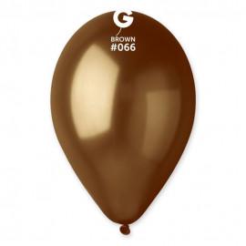Balónky metalické 100 ks hnědé - průměr 26 cm
