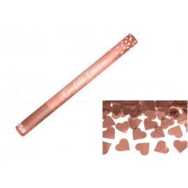 KONFETY 60cm - METALICKÉ RŮŽOVO ZLATÉ / ROSE GOLD SRDCE