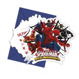 """Pozvánky s pozvánkou """" Ultimate SPIDERMAN """", 6 ks"""