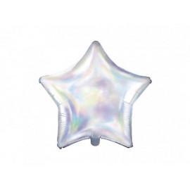 Balón foliový 45 cm Hvězda opalizující / duhová - Unicorn / Jednorožec