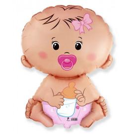 Balón foliový Miminko - holka 60cm