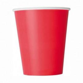 Kelímky červené 8 ks, 270 ml