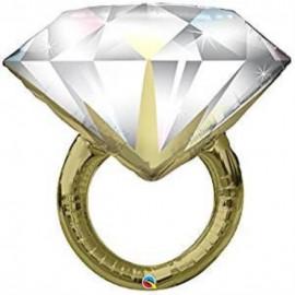 Balón foliový svatební prsten 94 cm - rozlučka se svobodou