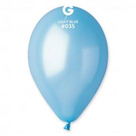 Balonky 1ks světle modrý 26cm metalické