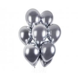 Balónky chromované 1 ks stříbrné lesklé - průměr 33 cm