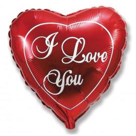 Balón foliový I LOVE YOU srdce 45cm