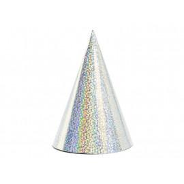 Párty kloboučky stříbrné 6ks
