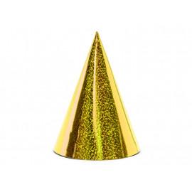 Párty kloboučky zlaté 6ks