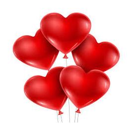 Balón SRDCE červené 1 ks