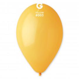 Balonky 1ks žluté 26cm pastelové