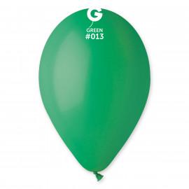 Balonky 1ks tmavě zelené 26cm pastelové