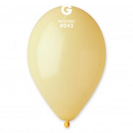 Balonky 1ks hořčičně žlutý 26cm pastelový