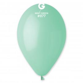 Balonky 100ks zelené mátové 26cm pastelové