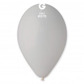 Balonky 1ks šedé 26cm pastelové