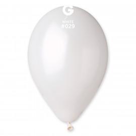 Balonky 1ks bílé 26cm metalické